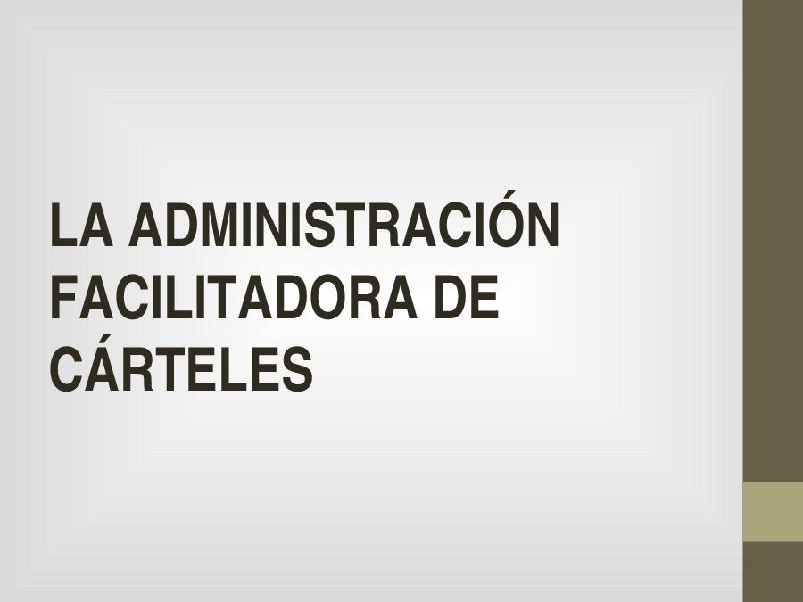 Análise de casos prácticos de cártel en contratación pública e de amparo pola Administración de prácticas restritivas